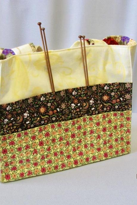 Knit/Crochet Tote Project Bag Organizer