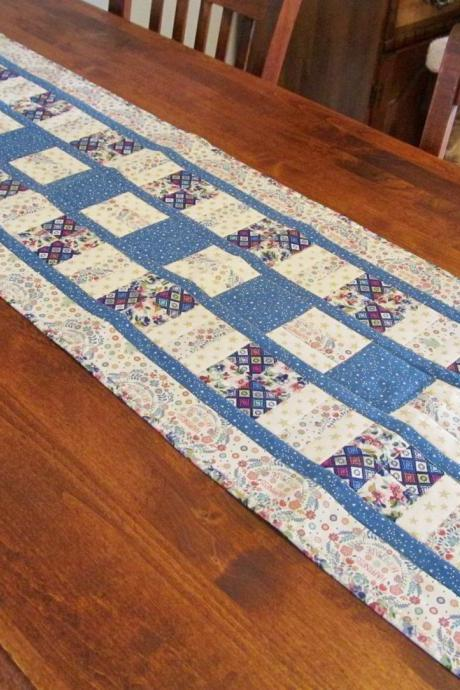 Quilted Cotton Fabric Table Runner