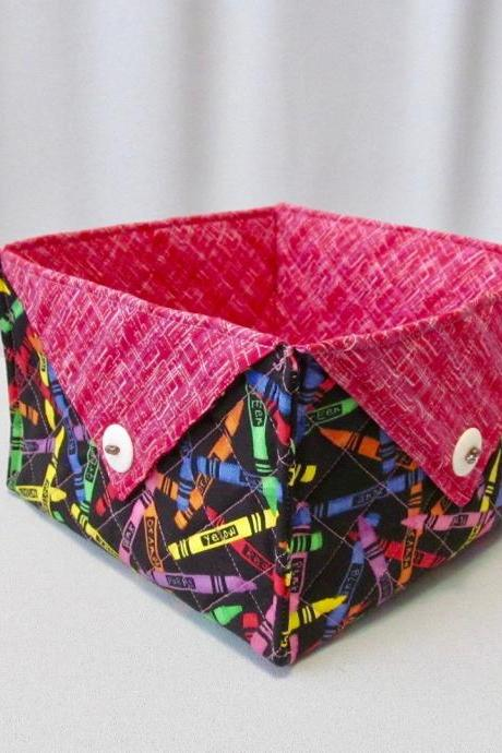 Multi-Color Square Fabric Box Cotton Quilted Soft